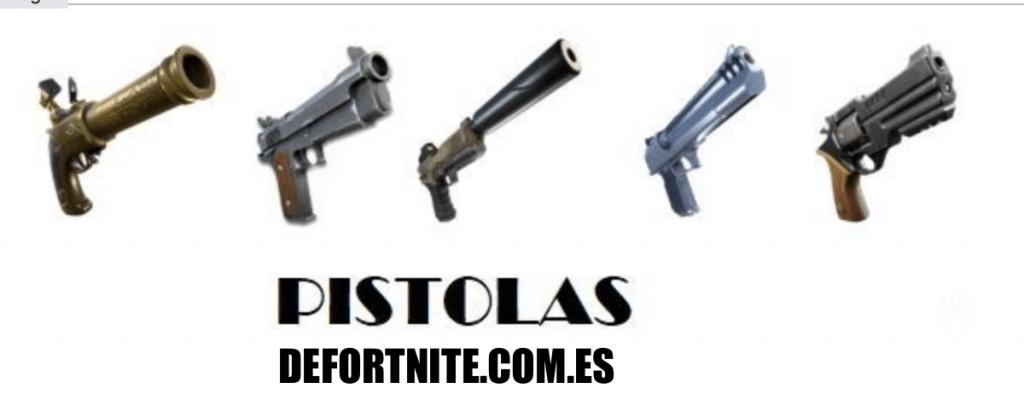 Fortnite - Armas: Pistolas