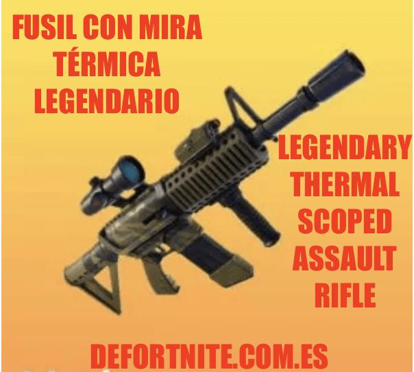 Fusil de asalto con mira térmica legendario