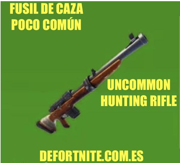 Fusil de caza poco común