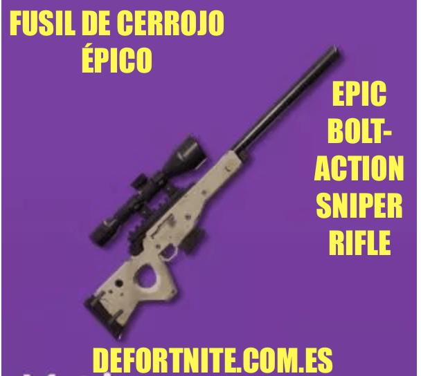 Fusil de cerrojo épico