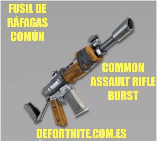 Fusil de ráfagas común