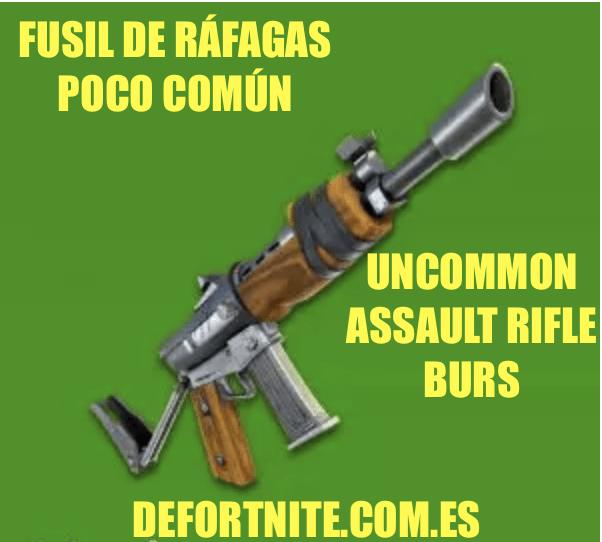 Fusil de ráfagas poco común