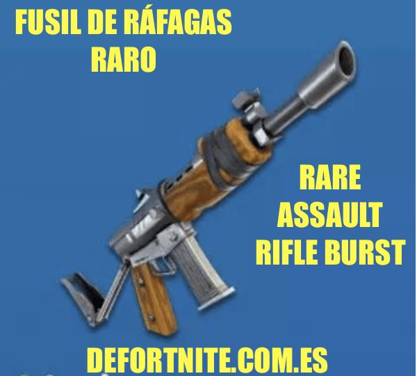 Fusil de ráfagas raro