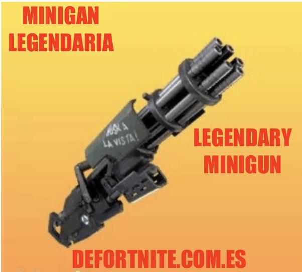 Minigun legendaria