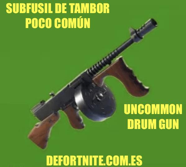 Subfusil de tambor poco común