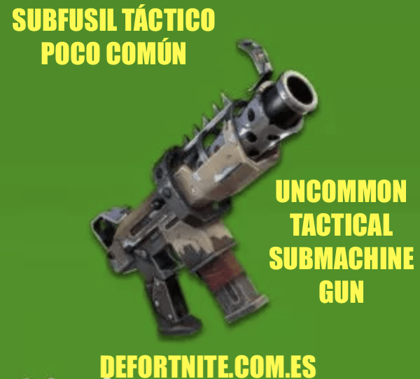 Subfusil táctico poco común