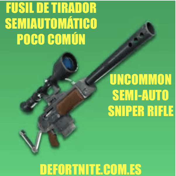 fusil de tirador semiautomatico poco comun