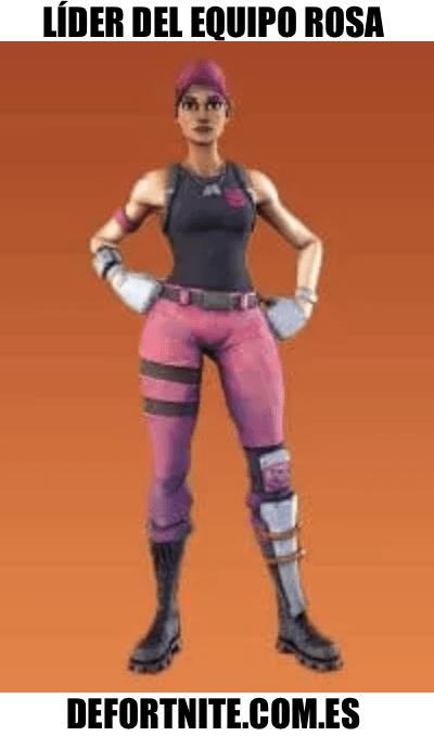 lider del equipo rosa