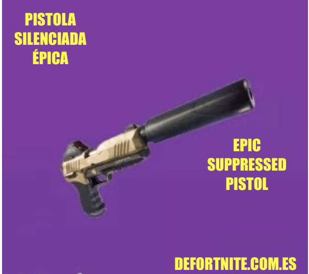 Pistola silenciada épica