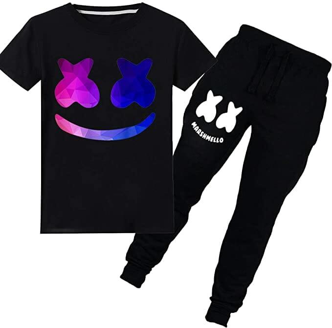 FLYCHEN-Niños-Chándales-Camiseta-Pantalón-keywords-disfraz-fortnite