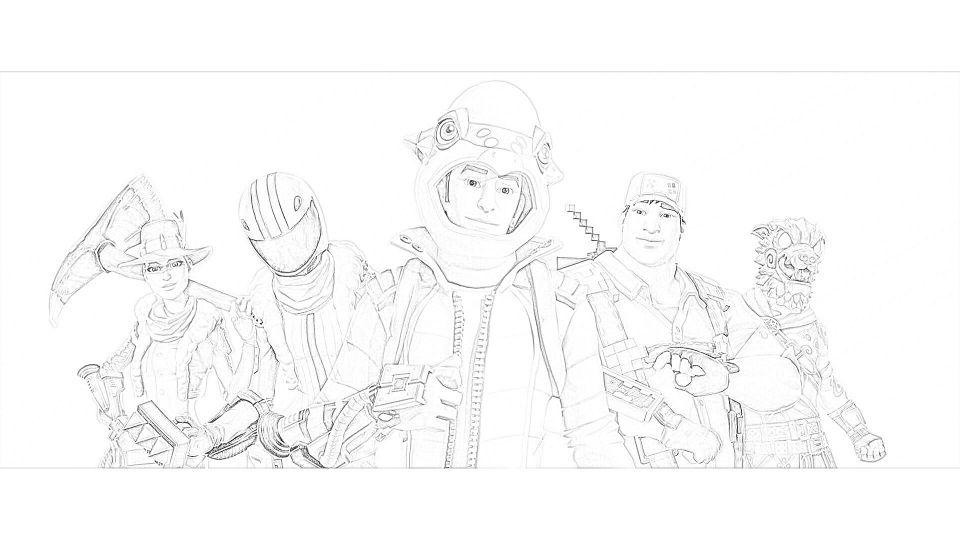 Dibujos de Fortnite Para Colorear 3