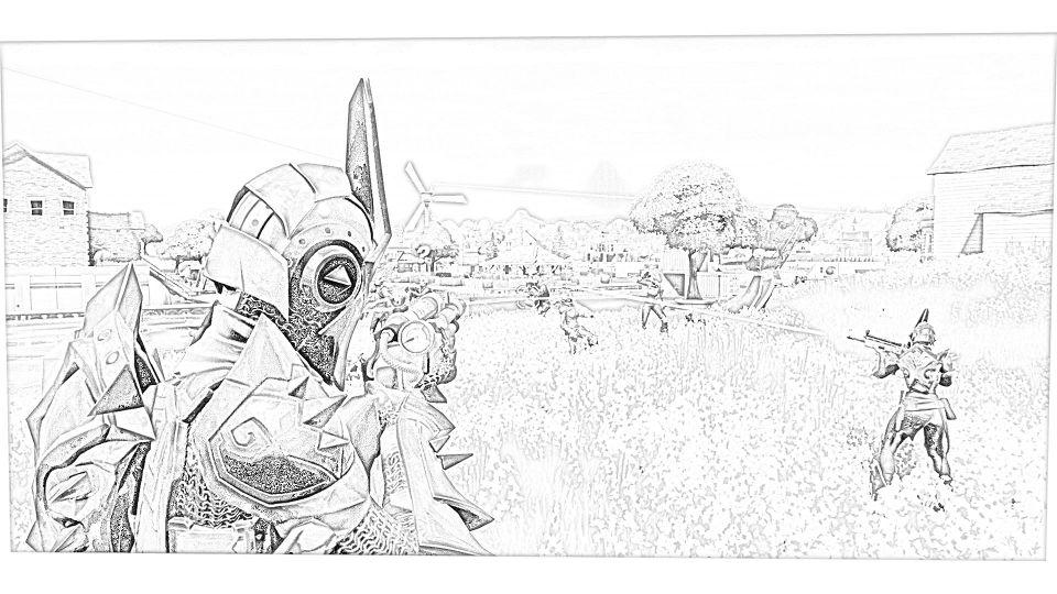 Dibujos de Fortnite Para Colorear 9
