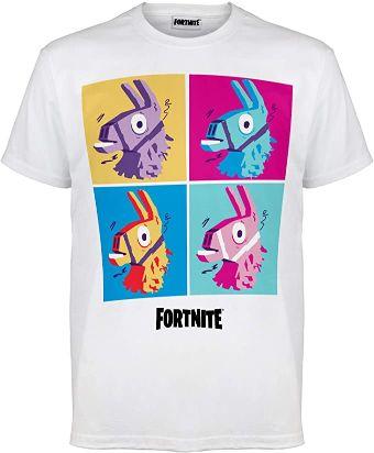 Fortnite-Ajuste-Camiseta-Mujeres-Blanco-camiseta-fortnite-mujer